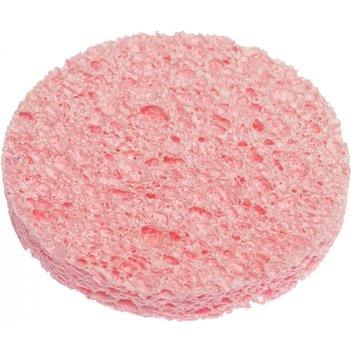 Спонж dewal beauty для снятия макияжа, розовый, 60 x 60 x 8 мм, 3 шт