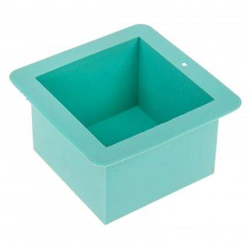 Силиконовая форма для мыла куб на 500 гр 030