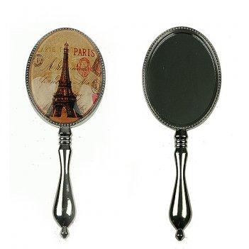 """Зеркало с ручкой """"париж"""" 7*20см"""