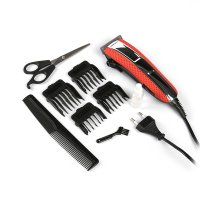 Машинка для стрижки волос scarlett sc-hc63c15, 6 вт, сеть, 4 насадки, крас