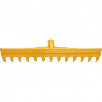 Грабли пластиковые, 430 мм, 13 прямых зубьев, усиленные, без черенка, luxe