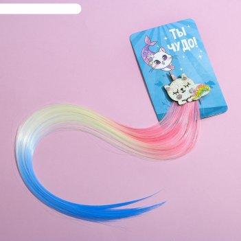 Заколка-парик «ты чудо!», 40 х 8 см