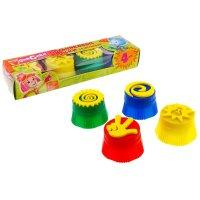 Набор пальчиковых красок фиксики, 4 цвета со штампами