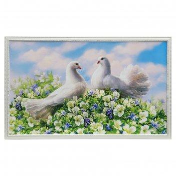 Картина белые голуби 65*104 см