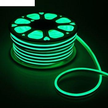 Гибкий неон 8 х 16 мм, 50 метров, led-120-smd2835, 220 v, зеленый