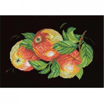 Рисунок для вышивания бисером яблоки на черном