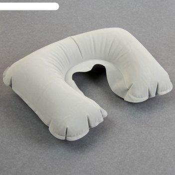 Подушка-воротник надувная 42*27см серый вклад qf
