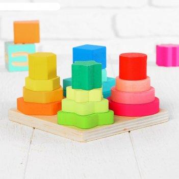 Логическая пирамидка геомертические формы