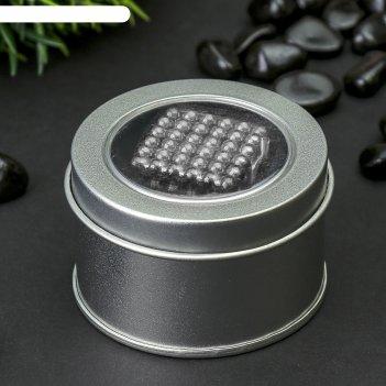 Неокуб серебряный, 125 шариков d=0,5 см