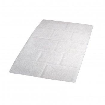Коврик для ванной, комнаты wall, цвет белый