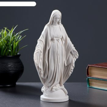 Статуэтка дева мария мраморная крошка