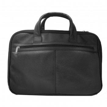 Сумка мужская, 40х9х28 см, отдел на молнии, наружный карман, цвет чёрный ф