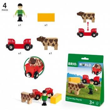 Brio игр.наб.мальчик на ферме,4 эл.,кор.15х20х5,5 см