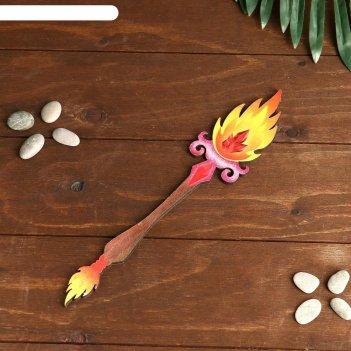 Сувенир деревянный магический жезл огня