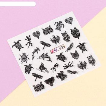 Наклейки для ногтей водные «tatoo print»