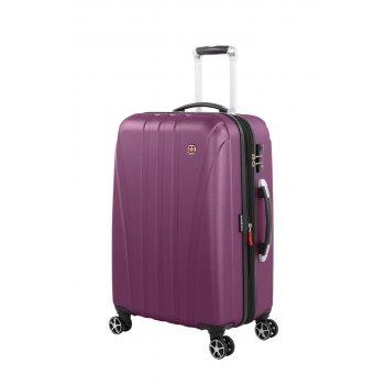 Чемодан swissgear tallac, фиолетовый, абс-пластик, 46 x 28 x 68 см, 65 л