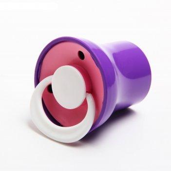 Соска-пустышка латексная классическая «ягодка» с кольцом, в защитном колпа