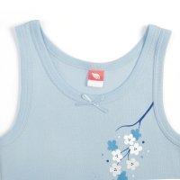 Майка для девочки, рост 92 см, цвет голубой cak 2264_м