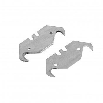Лезвия для ножей tundra, трапециевидные крючкообразные, 19 мм, 5 шт.