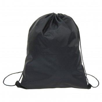 Мешок для обуви 66591 клетка п/э 210 , 35*05*43см, шнурок, цвет черный