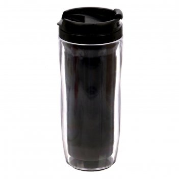 Термостакан под полиграфическую вставку, чёрный, 350 мл