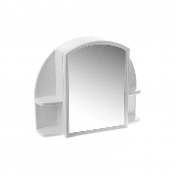 Шкафчик для ванной комнаты орион с зеркалом (39,1*27,5 см), снежно-белый