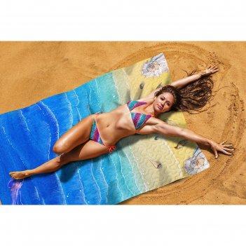 Пляжное покрывало «прибой», размер 145 x 200 см