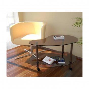 Стол журнальный модерн стекло, 920х620х530 мм, №88, бронза тонированный