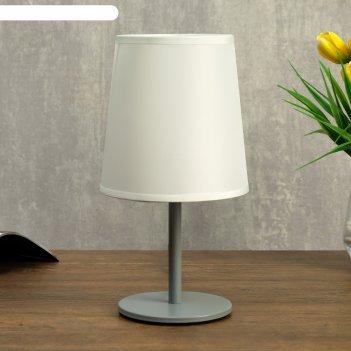 Лампа настольная 58081/1 1х40вт е27 серый 13х13х25 см