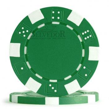 Профессиональные фишки для покера dice зеленый цвет