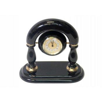 Часы настольные (обсидиан) 300х150х350 арт. ч-011