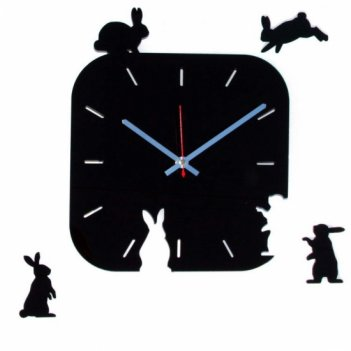 Часы для кухни поляна зайцев cl1104 28х34см