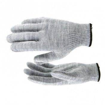 Перчатки трикотажные, акрил, серая туча, оверлок россия сибртех