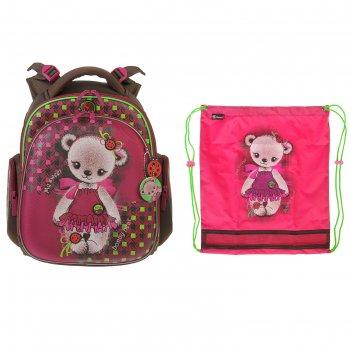 Рюкзак каркасный hummingbird tk 37 х 32 х 18 см, мешок, для девочки, «мишк