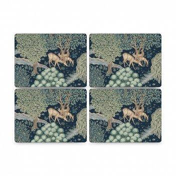 Набор из 4-х подставок под горячее «олени», размер: 40 х 30 см, материал: