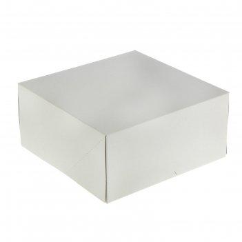Кондитерская упаковка, короб, белый, 25,5 х 25,5 х 12 см