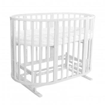 Кроватка детская everflo allure milk 7 в 1 с маятником es-008