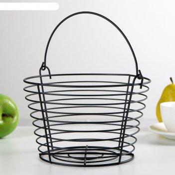 Корзина для фруктов 20x20x13 см, цвет чёрный