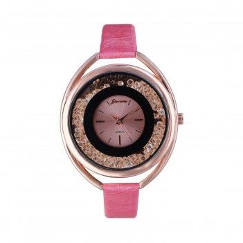 Часы наручные женские кравьери, циферблат d=3.8 см, черные