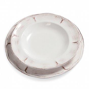 Fade набор тарелок piatto fondo rustica, 25 см, 6 шт