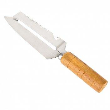 Нож-шинковка 5,5*2,5*25,5см. (нержавеющая сталь, дерево) (упаковочный паке