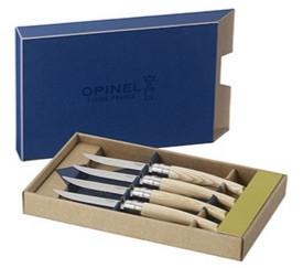 Набор столовых ножей opinel vri ashwood из 4-х штук (нержавеющая сталь, дл