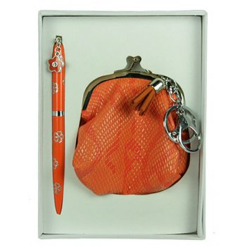 """Подарочный набор """"кошелек"""": ручка, брелок 17*12*3см"""