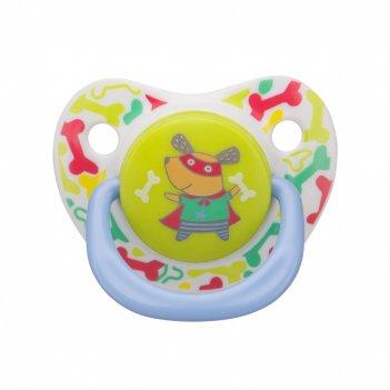 13008 dog силиконовая соска-пустышка симметричной формы baby soother(144 ш