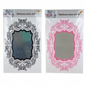 Наклейка - стикер (интерьерный с зеркальной поверхностью) (2вида) (упаково