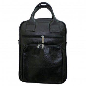 Портфель мужской, 41х9х29 см, 2 отдела на молнии, 2 наружных кармана, длин