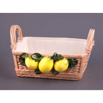 Корзина с лимонами прямоугольная.высота=16 см длина=27 см ши