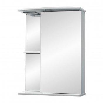 Зеркало-шкаф ника, светильник 50 фацет правое