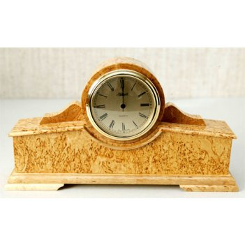 Часы каминные, карельская берёза