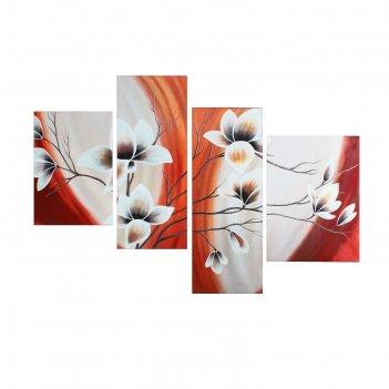 Модульная картина на подрамнике цветы, 40x50, 42x55, 30x80, 30x75, 145x80